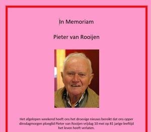 In Memoriam: Pieter van Rooijen